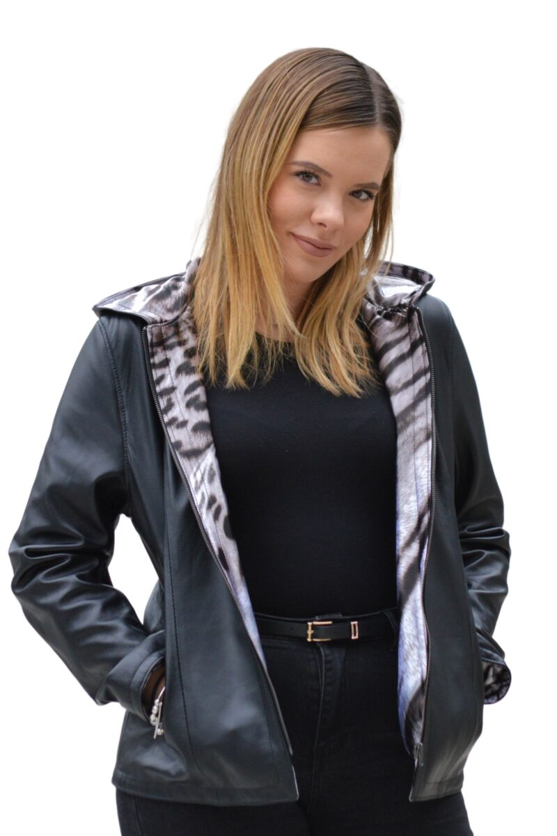 Γυναικείο δερμάτινο σακάκι